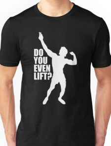 Zyzz Do you Even Lift White Unisex T-Shirt