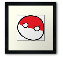 Polandball - Derpy Poland Small Framed Print