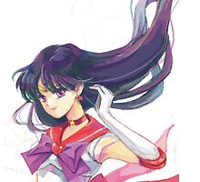 Sailor Moon - Sailor Mars in the Wind by sandyw5