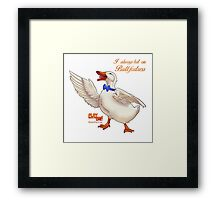A DAY AT THE DUCK RACES Framed Print