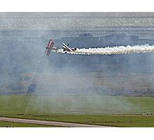 Through The Smoke - Wingwalkers - Shoreham 2014 Photographic Print