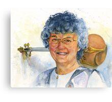 The Violin Teacher Canvas Print