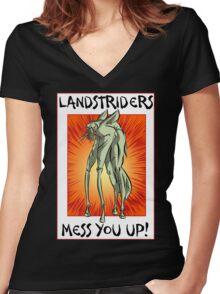 I just don't trust 'em! Women's Fitted V-Neck T-Shirt