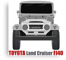 Toyota  Land Cruiser FJ40 - Front Canvas Print