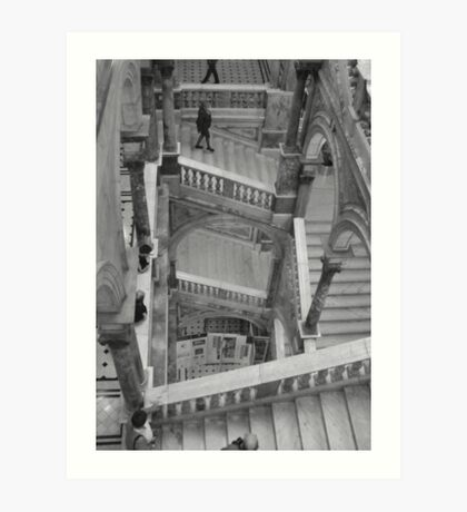 Up and Down the Stairs Art Print