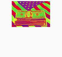 Stack of Money On American Flag Pop Art Unisex T-Shirt