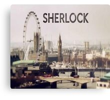 Sherlock & London Metal Print