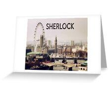 Sherlock & London Greeting Card