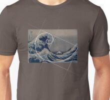 Hokusai Meets Fibonacci Unisex T-Shirt