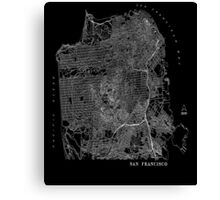 San Francisco - Topographical Map -  Canvas Print