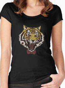 Yurio's Bow Tie Tiger Women's Fitted Scoop T-Shirt
