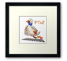 For the Win! Epic Duck Races! Framed Print