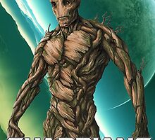 Groot - Guardians of the Galaxy by Gemzabella