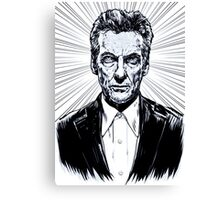 The Twelfth Doctor : Peter Capaldi is Doctor Who Canvas Print