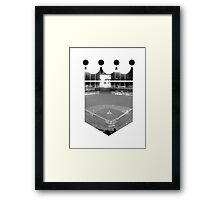 Kansas City Royals Stadium Black and White Framed Print