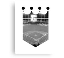 Kansas City Royals Stadium Black and White Canvas Print