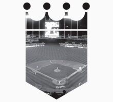 Kansas City Royals Stadium Black and White by Josh Eisenmann