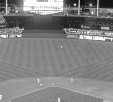 Kansas City Royals Stadium Black and White Sticker