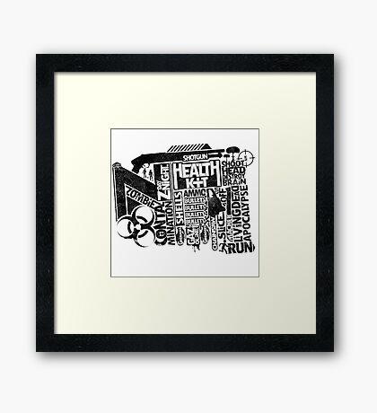 Survival Guide (black) Framed Print