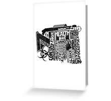 Survival Guide (black) Greeting Card