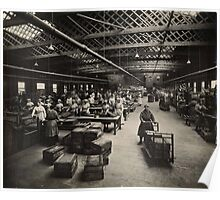 Women Working Munitions Box Factory Poster