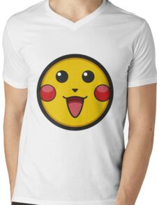 Pikachu Graphic Icon Mens V-Neck T-Shirt
