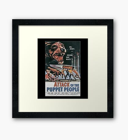 Attack of the Puppet People Vintage Retro Movie Poster  Framed Print