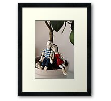 Paul and Mary resting under the lime tree Framed Print