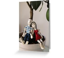 Paul and Mary resting under the lime tree Greeting Card