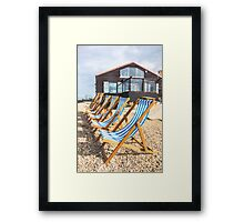 Whitstable Deck Chairs Framed Print