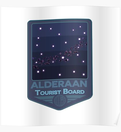 Alderaan - Tourist Board Badge Poster