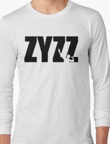 Zyzz Text Black Long Sleeve T-Shirt