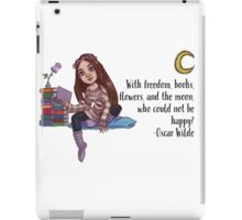 Bookish girl iPad Case/Skin
