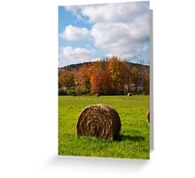 October Harvest Landscape Greeting Card