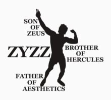Zyzz Son of Zeus Black by ZyzzShirts