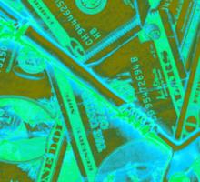 Money And Skeleton Key Pop Art Sticker