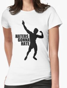 Zyzz Haters Gonna Hate Black Womens Fitted T-Shirt
