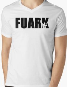 Zyzz Fuark Black Mens V-Neck T-Shirt