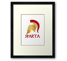 Gold and Red Spartan Helmet Framed Print