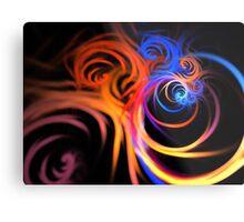Ultraviolet Swirls Metal Print