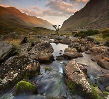 Snowdonia- Llanberis Pass Sunrise by Angie Latham