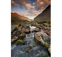 Snowdonia- Llanberis Pass Sunrise Photographic Print