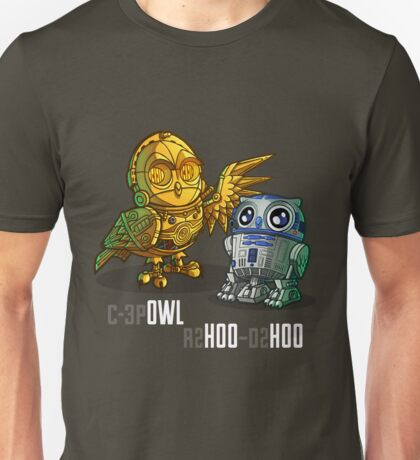 C-3p OWL and r2 HOO - d2 HOO Unisex T-Shirt