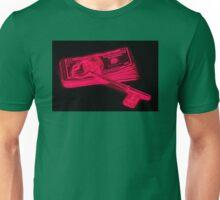 Skeleton Key On Pile Of American Money Pop Art Unisex T-Shirt
