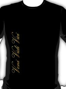 Zyzz Veni Vidi Vici Gold T-Shirt