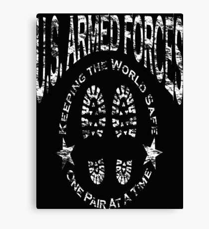 US Armed Forces Boots On The Ground  Canvas Print