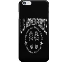 US Armed Forces Boots On The Ground  iPhone Case/Skin