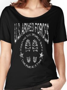 US Armed Forces Boots On The Ground  Women's Relaxed Fit T-Shirt