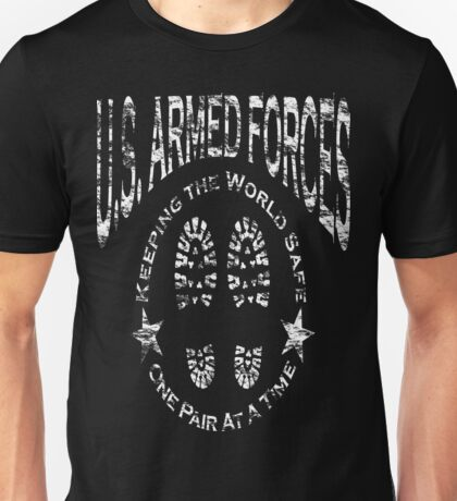 US Armed Forces Boots On The Ground  Unisex T-Shirt