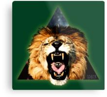 Lion Triangle Metal Print